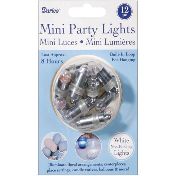Non-Blinking Mini Party Lites 12/Pkg