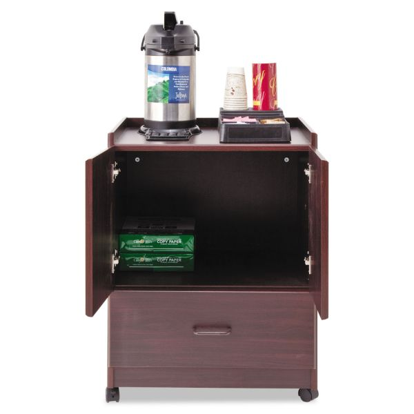Vertiflex Mobile Deluxe Coffee Bar, 23w x 19d x 30 3/4h, Mahogany