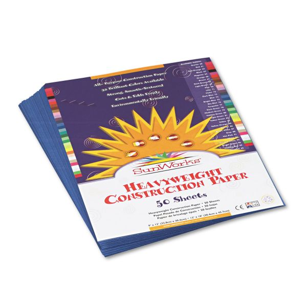 SunWorks Blue Construction Paper