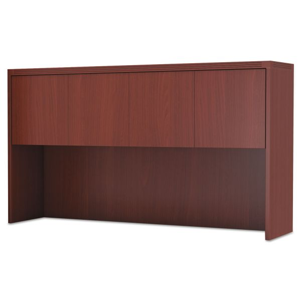 Mayline Aberdeen Series Laminate Wood Door Hutch, 72w x 15d x 39 1/8h, Cherry