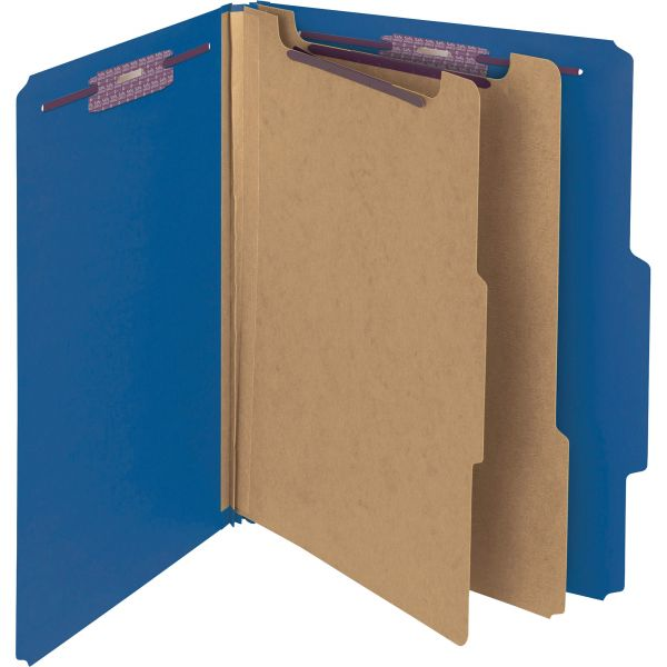 Smead 2-Divider PressGuard Classification Folders
