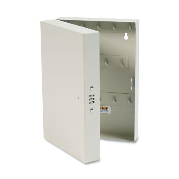 "SteelMaster Hook-Style Key Cabinet, 28-Key, Steel, Putty, 7-3/4""w x 3-1/4""d x 11-1/2""h"