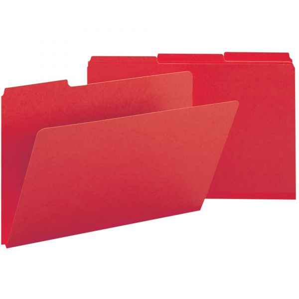 Smead Bright Red Colored Pressboard File Folders
