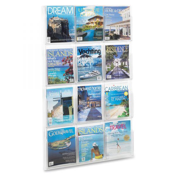 Safco 12 Pocket Magazine Display Rack