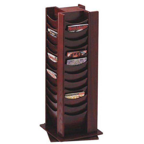 Buddy 48-Pocket Wood Rotating Literature Racks