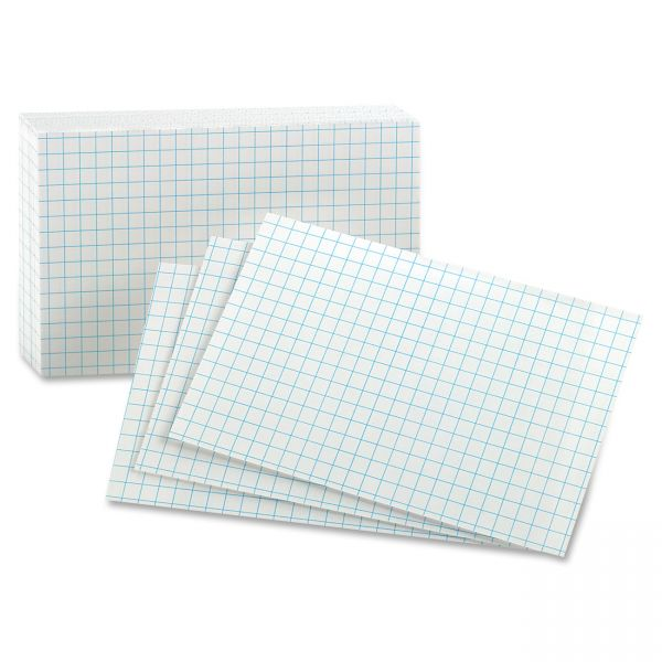 "Oxford 3"" x 5"" Grid Index Cards"