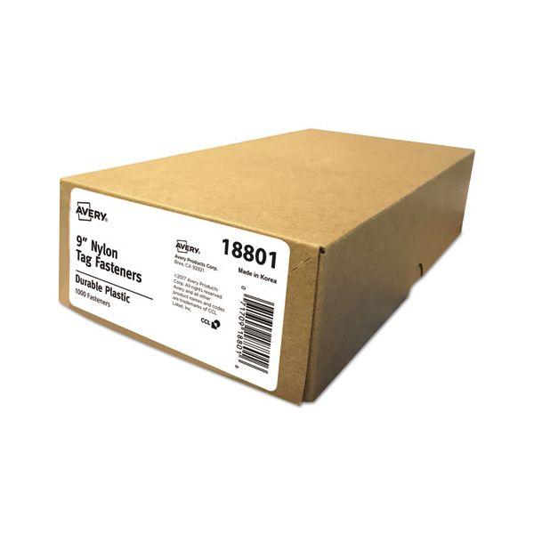 """Avery Nylon Tag Fasteners, Weatherproof, 9"""" Long, 1,000/Box"""