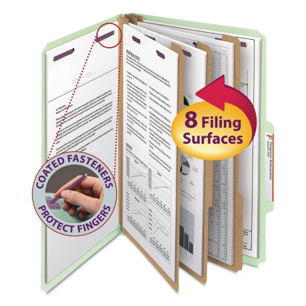 Smead SafeSHIELD 3-Divider Pressboard Classification Folders