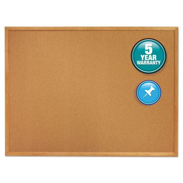 Quartet Classic Slim Line Cork Bulletin Board