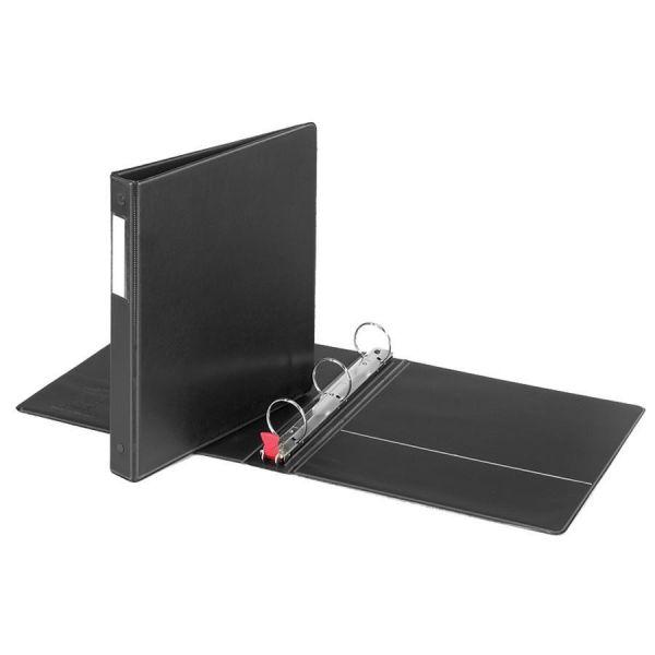 """Cardinal Premier Easy Open Locking 3-Ring Binder, 1"""" Capacity, Round Ring, Black"""