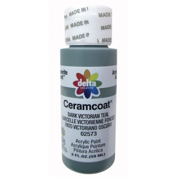 Ceramcoat Dark Victorian Teal Acrylic Paint