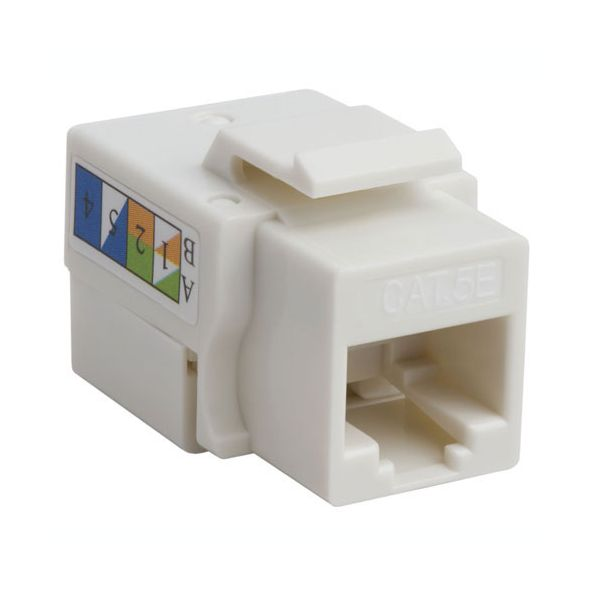 4XEM Cat5e RJ45 Keystone Jack UTP 110-Type (White)