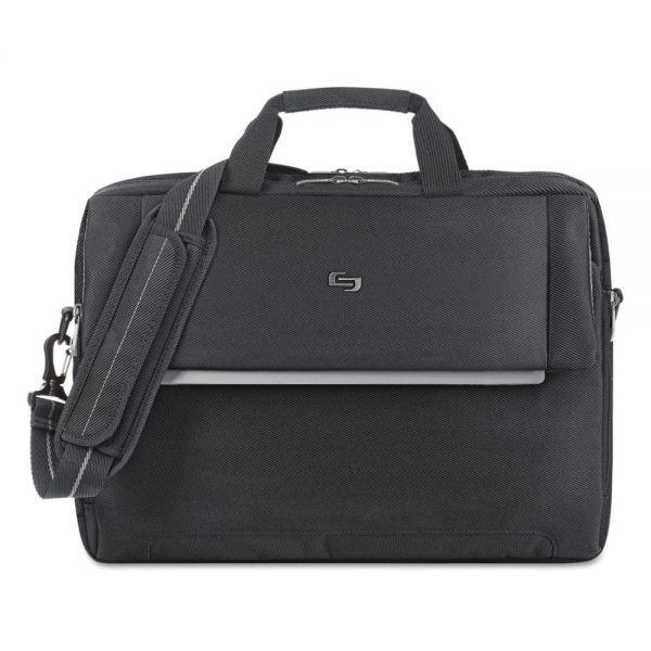 "Solo Urban Briefcase, 17.3"", 16 1/2 x 3 x 11, Black"