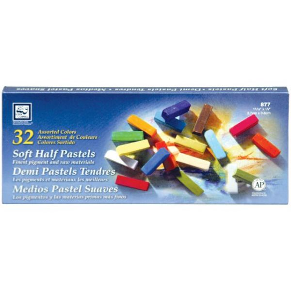 Soft Half Pastels 32/Pkg