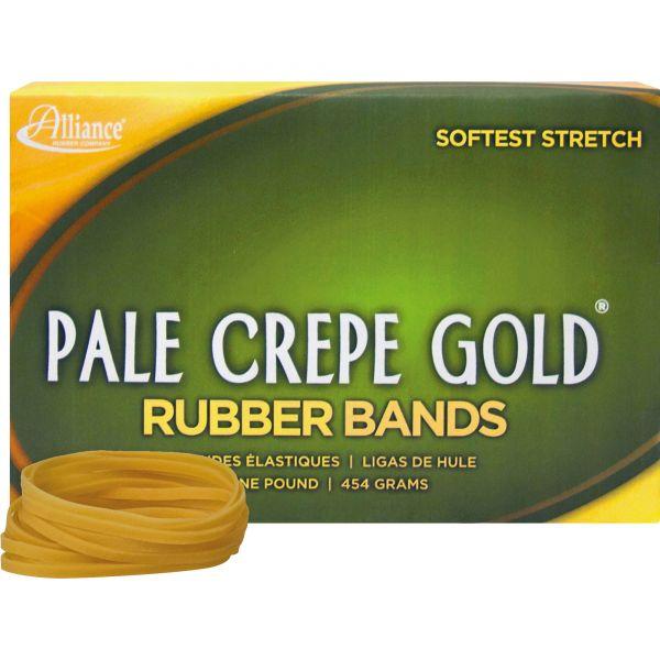 Alliance Pale Crepe Gold Rubber Bands, Sz. 32, 3 x 1/8, 1lb Box
