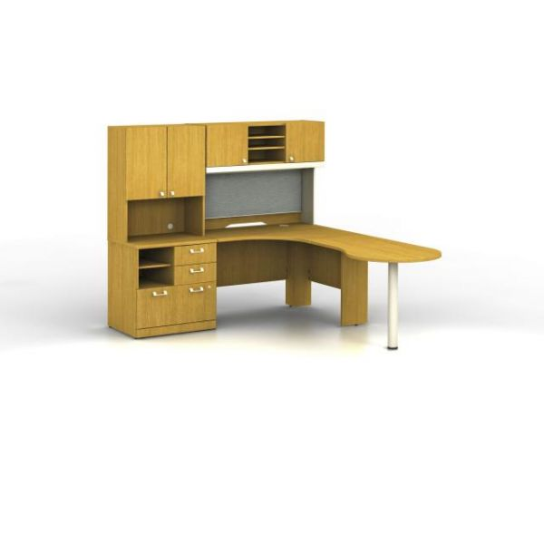 bbf Quantum Professional Configuration - Modern Cherry finish by Bush Furniture