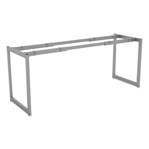 "Alera Alera Open Office Desk Series Adjustable O-Leg Desk Base, 24"" Deep, Silver"