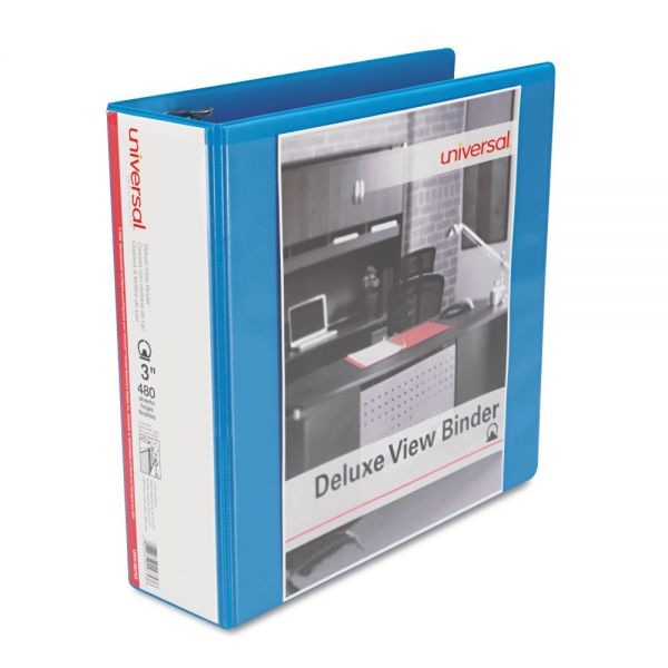 "Universal Deluxe 3"" 3-Ring View Binder"