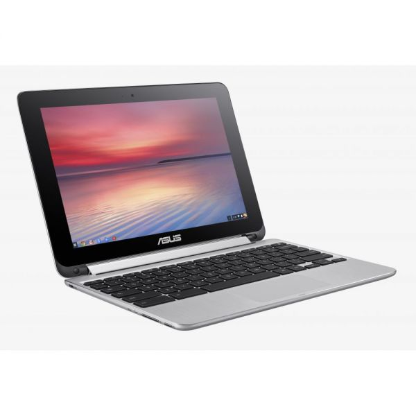 "Asus Chromebook Flip C100PA-DB02 10.1"" Touchscreen (In-plane Switching (IPS) Technology) 2 in 1 Netbook - Rockchip Cortex A17 RK3288 Quad-core (4 Core) 1.80 GHz - Convertible - Silver"