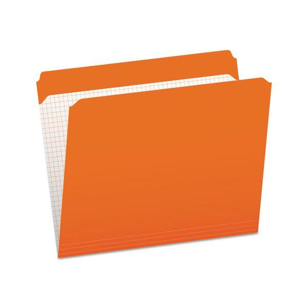 Pendaflex Reinforced Top Tab File Folders, Straight Cut, Letter, Orange, 100/Box