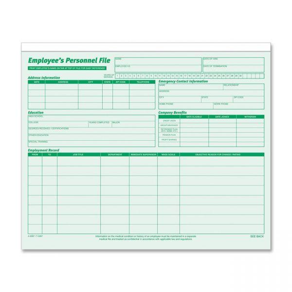 TOPS Employee Record File Folders