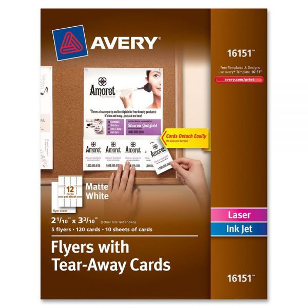 Avery Flyers with Tear-Away Cards