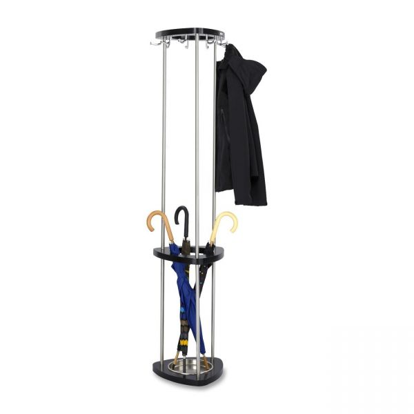 Safco Wood Coat Rack with Umbrella Stand