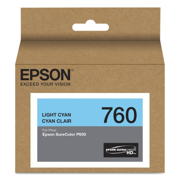 Epson 760 UltraChrome Light Cyan HD Ink Cartridge (T760520)