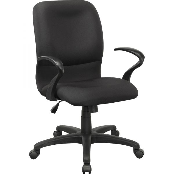 Lorell Executive Mid-Back Fabric Contour Office Chair