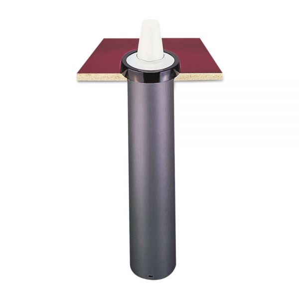 San Jamar EZ-Fit One-Size-Fits-All Cup Dispenser, Black