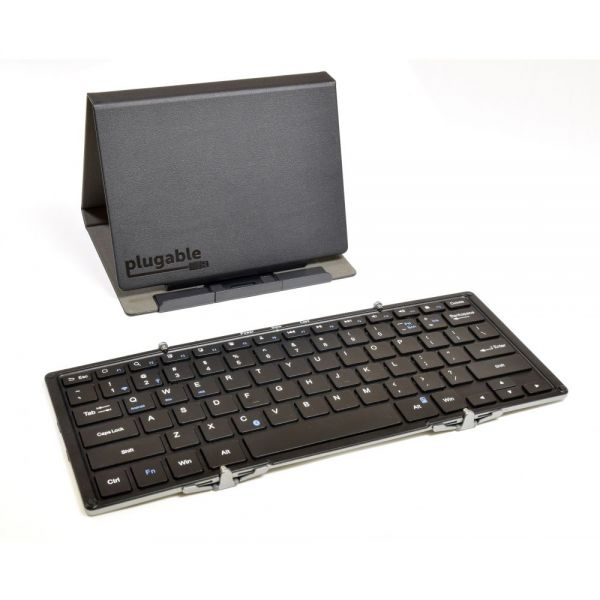 Plugable Bluetooth Full-Size Folding Keyboard and Case for Android, iOS, Windows