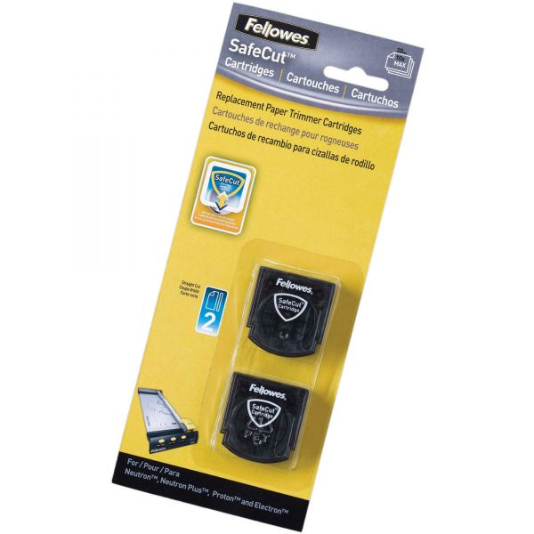 Fellowes SafeCut Rotary Trimmer Blades - 2Pk Straight