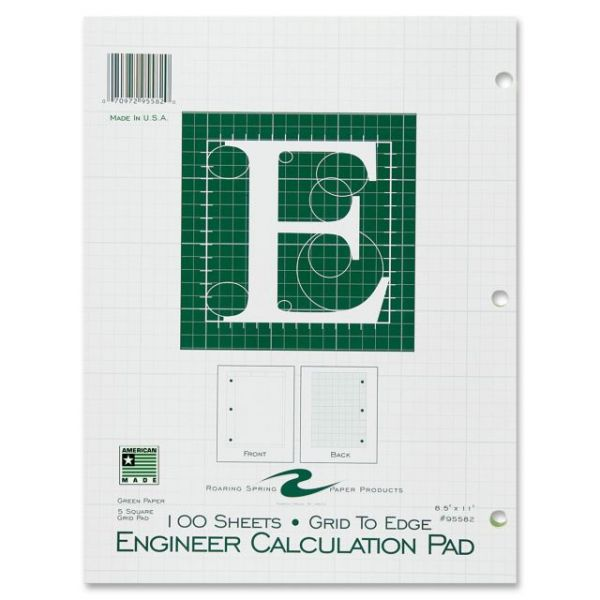Roaring Spring Engineer Calculation Pads