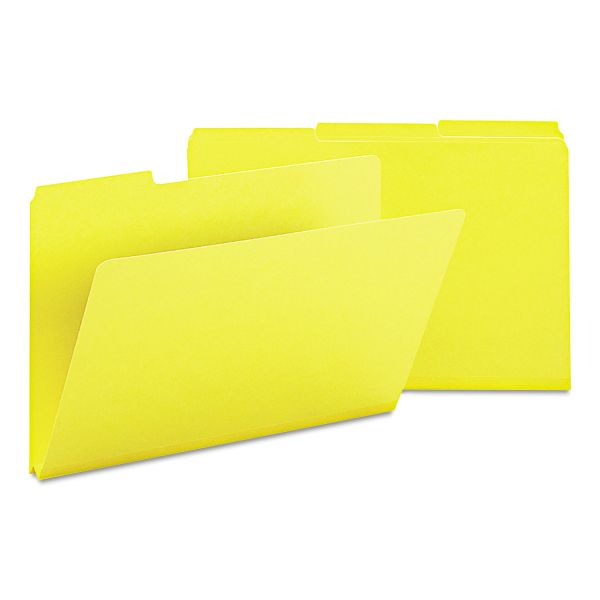 Smead Recycled Folder, One Inch Expansion, 1/3 Cut Top Tab, Legal, Yellow, 25/Box