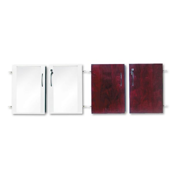 Tiffany Industries Doors for Corsica/Napoli Low Wall Cabinet, 72 x 29-1/2 x 1, Mahogany