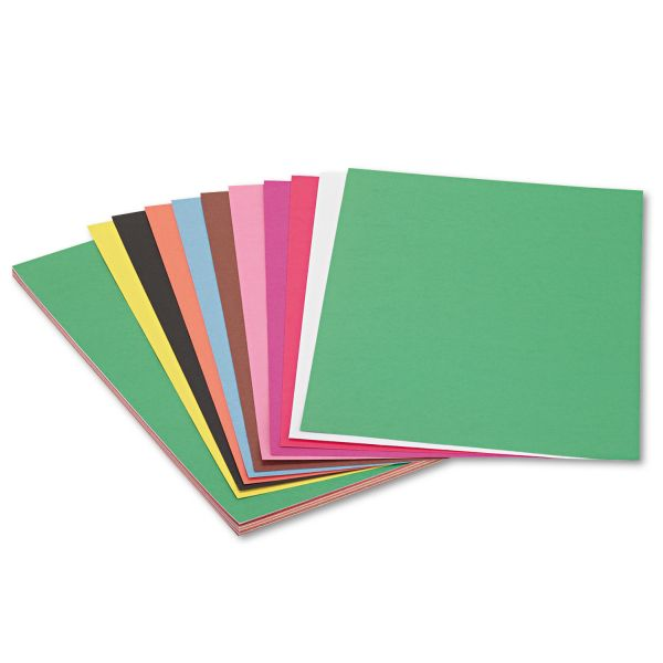 SunWorks Construction Paper, 58 lbs., 12 x 18, Assorted, 50 Sheets/Pack