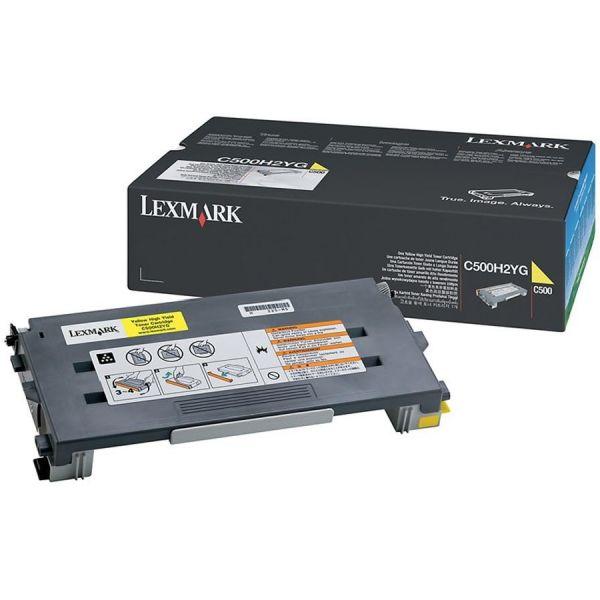 Lexmark C500H2YG Toner, 3000 Page-Yield, Yellow