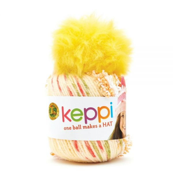 Lion Brand Keppi Yarn - Lollipop Yellow