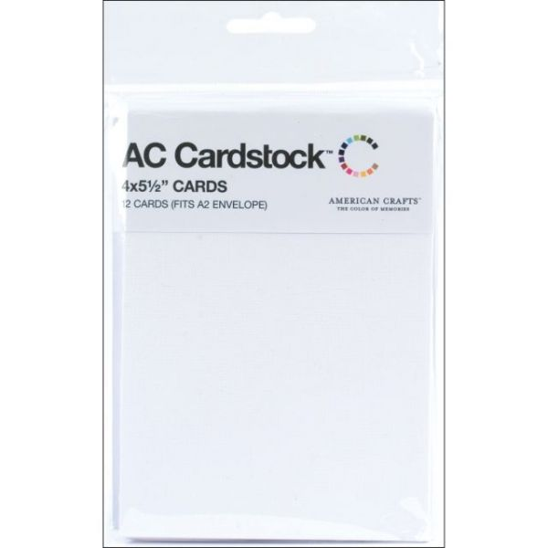"American Crafts A2 Cards (4""X5.5"") 12/Pkg"