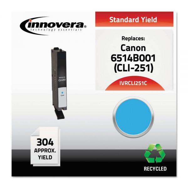 Innovera Remanufactured 6514B001 (CLI-251) Ink, Cyan