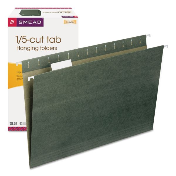 Smead 64155 Standard Green Hanging File Folders