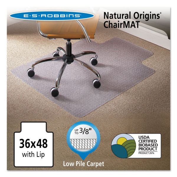 ES Robbins Natural Origins Low Pile Chair Mat