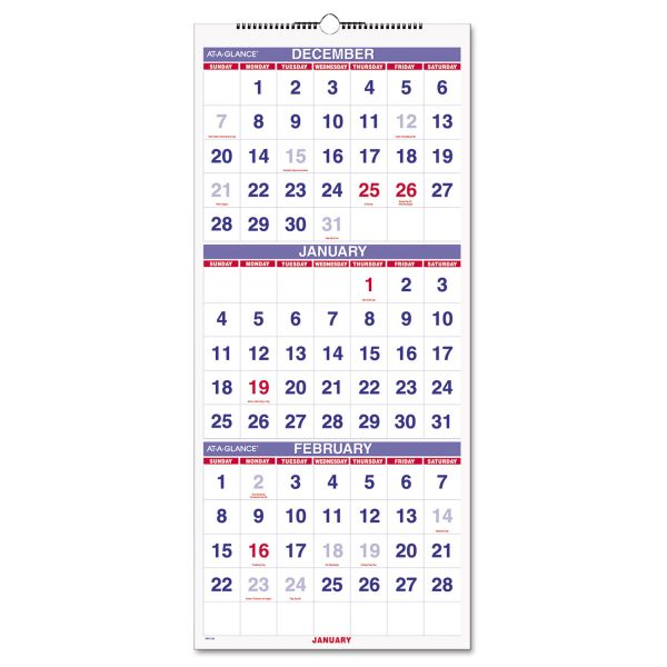At-A-Glance 3 Month Reference Wall Calendar