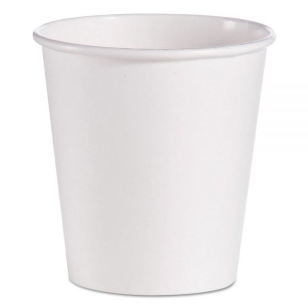 SOLO Cup Company 10 oz Single-Sided Poly Paper Coffee Cups
