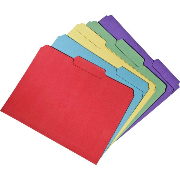 SKILCRAFT Recycled Double-Ply Top Tab Colored File Folders