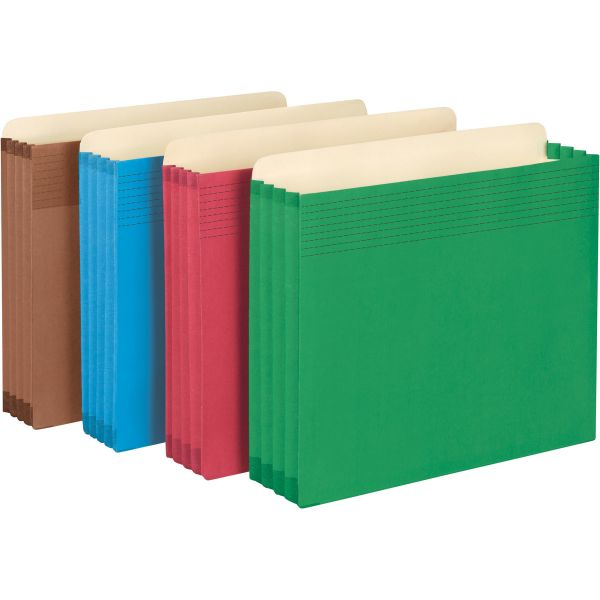 Smead Drawer Colored Expanding File Pockets with Easy Grips