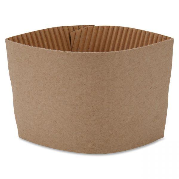 Genuine Joe Protective Corrugated Hot Cup Sleeves