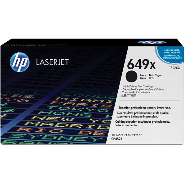 HP 649X Black High Yield Toner Cartridge (CE260X)