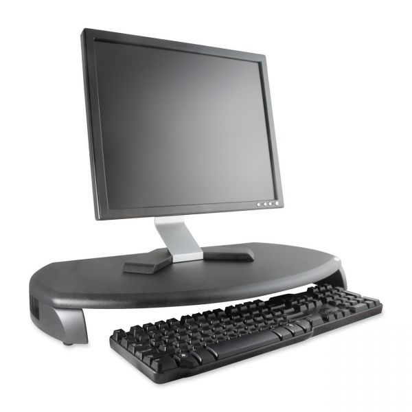 Kantek CRT/LCD Stand with Keyboard Storage, 23w x 13 1/4d x 3h, Black