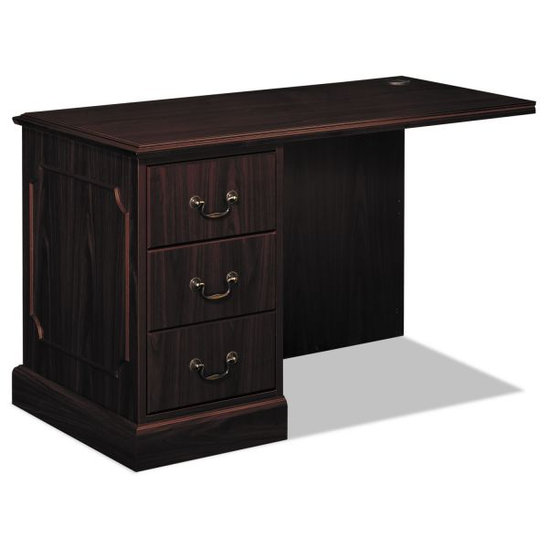 "HON 94000 Series ""L"" Workstation Left Return, 48w x 24d x 29-1/2h, Mahogany"